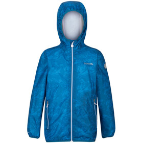 Regatta Printed Lever Waterproof Shell Jacket Kids blue aster